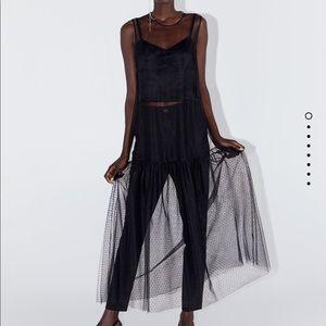 Zara Swiss polka dot tulle dress bloggers favorit